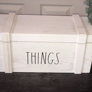 Rae Dunn Wood Storage Box THINGS